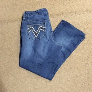 16 bootcut seven7  jeans with pocket detail